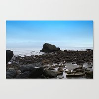 Stones On The Shoreline Canvas Print