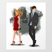 Going Downtown #2 Art Print