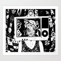 Hallo Mädchen Art Print