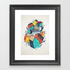 Tumble Town  Framed Art Print