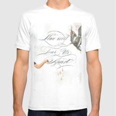 L.W.T.U.A (Love will tear us apart) Mens Fitted Tee SMALL White