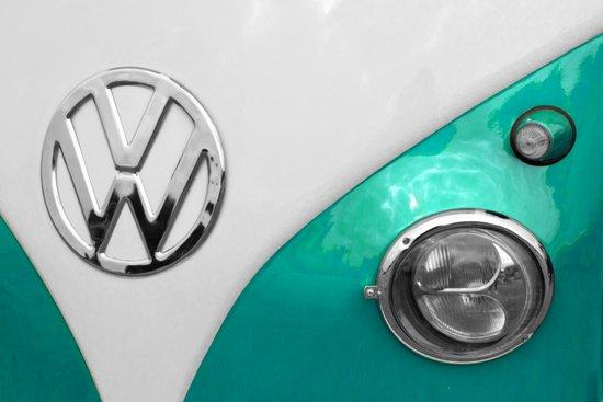 VW Split Screen in Teal Art Print
