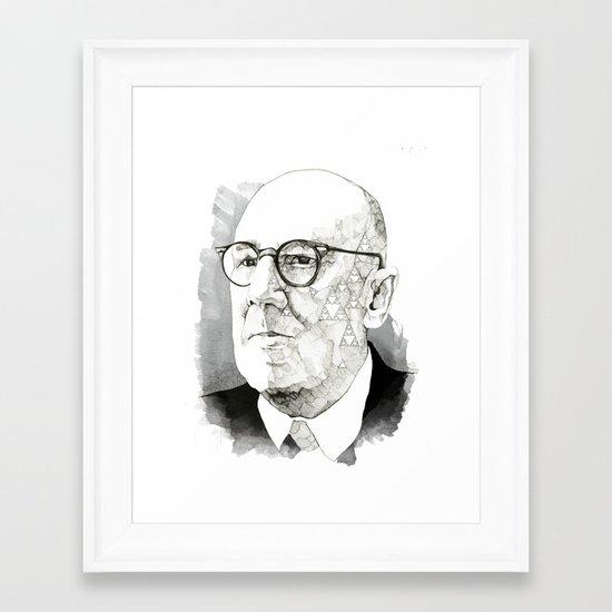 Chaos in Sierpinski Framed Art Print