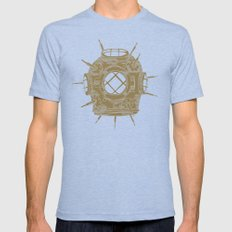Dive Bomb. Mens Fitted Tee Tri-Blue SMALL