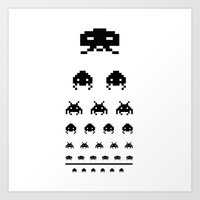 Gamers eye test Art Print