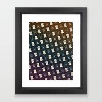 FORTUNE PATTERN Framed Art Print