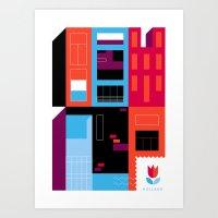 Postcards from Amsterdam / Borneo Art Print
