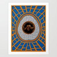 brain Art Prints featuring Brain by Canson City