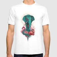 Elephant on the mat Mens Fitted Tee White SMALL