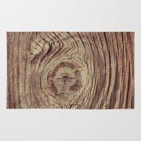 Vintage Weathered Wood Rug
