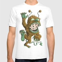 Monster Inside Mens Fitted Tee White SMALL