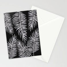 Fern Pattern Black And White Stationery Cards