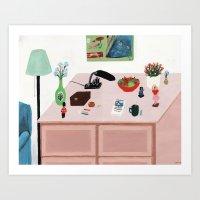 Fleshcoloured Commode Art Print
