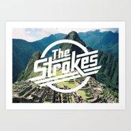 The Strokes Logo Machu P… Art Print