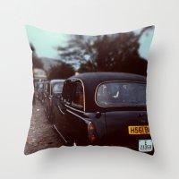 London Cab Throw Pillow