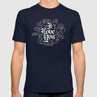 3 Little Words Mens Fitted Tee Navy SMALL