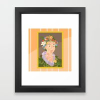 Flora By  Giuseppe Arcim… Framed Art Print