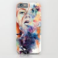 watercolor iPhone & iPod Cases featuring this thing called art is really dangerous by agnes-cecile