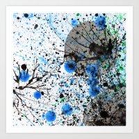 Ink & Bubbles Art Print