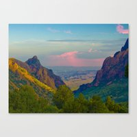 Chisos Mountain Park Big… Canvas Print
