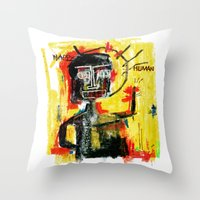 Happy human Throw Pillow