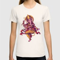 Ganesha (Color Variation 1) Womens Fitted Tee Natural SMALL