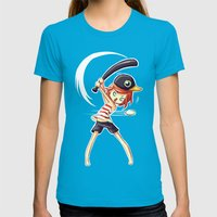 Baseball Womens Fitted Tee Teal SMALL