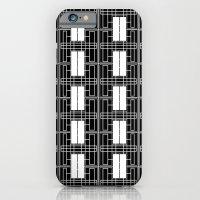 Black And White Brick iPhone 6 Slim Case