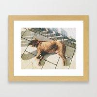 Sleeping Dogs Framed Art Print