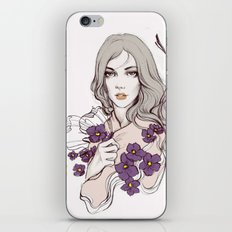 Birth Flower II - Violet iPhone & iPod Skin
