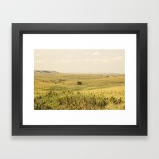 Western Valley Framed Art Print