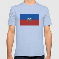 Haiti country flag Mens Fitted Tee Athletic Blue SMALL