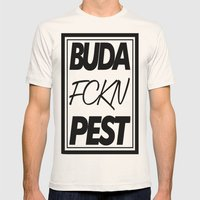 Buda Fckn Pest Mens Fitted Tee Natural SMALL