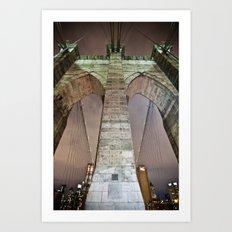 The bridge. Art Print