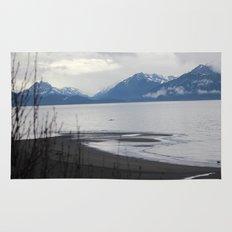 Solitude :: A Lone Kayaker Rug