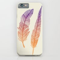 feathers iPhone & iPod Cases featuring Feathers by pakowacz