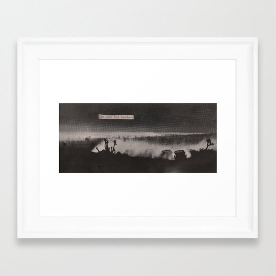 like some lost wanderer Framed Art Print
