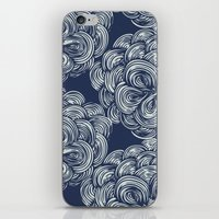 clouds - navy iPhone & iPod Skin
