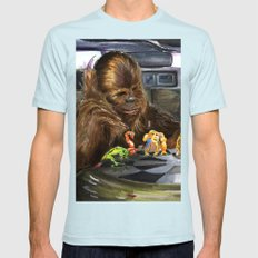 Star Wars - Let the Wookiee Win Mens Fitted Tee Light Blue SMALL