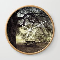 Picnic in the Grasslands Wall Clock