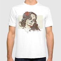 Muerte Mens Fitted Tee White SMALL