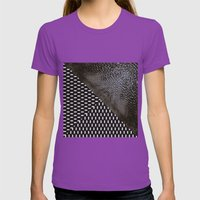 waves/grid #10 Womens Fitted Tee Ultraviolet SMALL