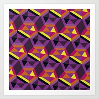 Chasing Purple Art Print