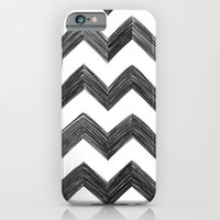 iPhone & iPod Case featuring Classic Chevrons in Black by One Curious Chip