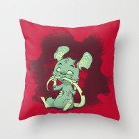 Zombie Mouse Throw Pillow