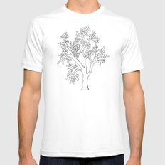 Solo Tree Mens Fitted Tee White SMALL