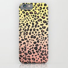 CORAL & YELLOW LEOPARD Slim Case iPhone 6s