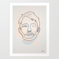 One Line Thom Yorke Art Print