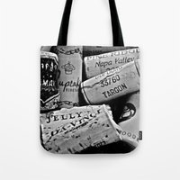 Uncorked B&W Tote Bag