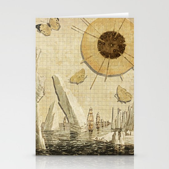 paper I :: butterflies/icebergs Stationery Card